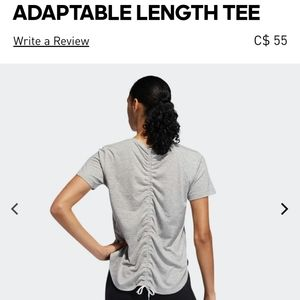 Adidas adaptable length tee